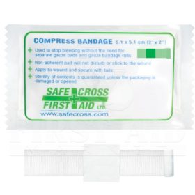 """Compress Bandage, 5.1 x 5.1 cm (2"""" x 2"""")"""