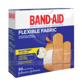 Band-Aid Brand Fabric Bandages, Assorted, 50/Box