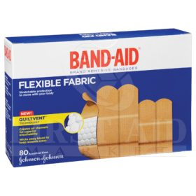 Band-Aid Brand Fabric Bandages, Assorted, 80/Box