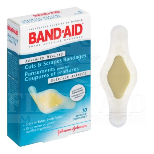 Band-Aid Brand Advanced Healing Bandages, 2.5 x 6.7 cm, 10/Box