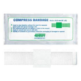 Compress Bandage, 15.2 x 15.2 cm (6
