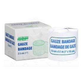 Gauze Bandage Roll, 2.5 cm x 9.1 m
