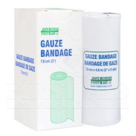 Gauze Bandage Roll, 7.6 cm x 9.1 m