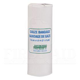 Gauze Bandage Roll, 7.6 cm x 4.6 m