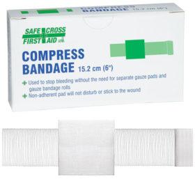 """Compress Bandage, 15.2 x 15.2 cm (6"""" x 6"""")"""