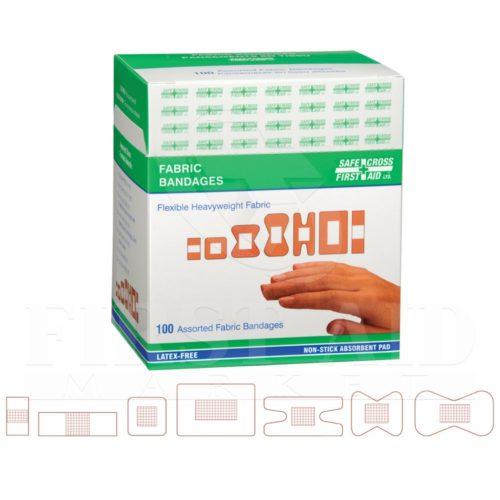 Heavyweight Fabric Bandages, Assorted Sizes