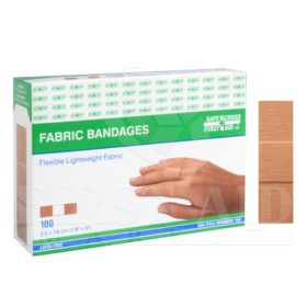 Fabric Bandages, 2.2 x 7.6cm, Lightweight