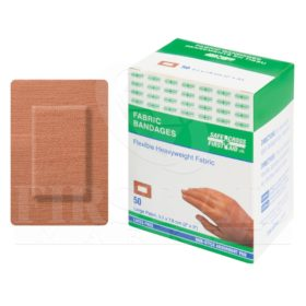 Fabric Bandages, Large Patch, 5.1 x 7.6 cm, Heavyweight, 50/Box