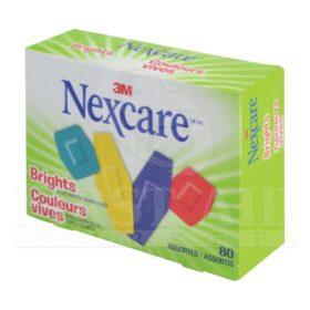 Nexcare Comfort Bandages, Brights, 2.7 x 5.6 cm, 80/Box