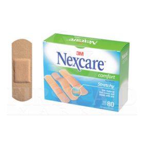 Nexcare Comfort Bandages, 1.9 x 7.6 cm, 80/Box