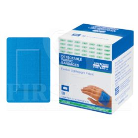 Fabric Detectable Bandages, Large Patch, 5.1 x 7.6 cm, 50/Box