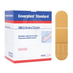 Coverplast Plastic Bandages, 1.9 x 7.2 cm, 100/Box
