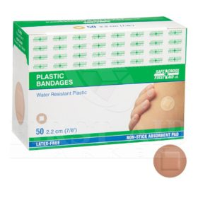 Plastic Bandages, 2.2 cm Circles, 50/Box