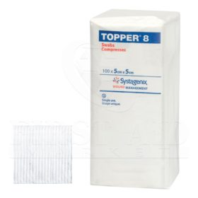 Topper-8 Swabs, 4-Ply, 100