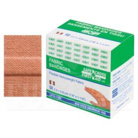 Fabric Bandages, 2.2 x 3.8 cm, Heavyweight, 50/Box