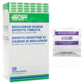 Benzalkonium Chloride (BZK) Antiseptic Towelettes