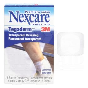 Tegaderm Transparent Film Dressings, 6 x 7 cm