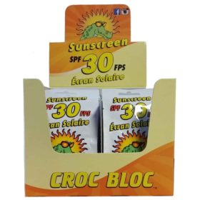 Croc Bloc Sunscreen Lotion SPF 30 - 10 ml, 50/Box