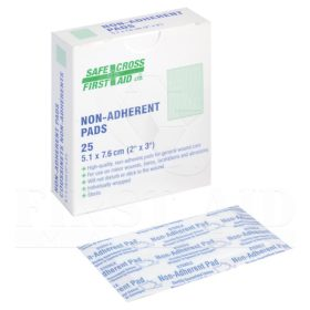 Non-Adherent Pads 5.1 x 7.6 cm, Sterile, 25/Box