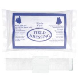 Compress Bandage Field Dressing, 10.2 x 10.2cm