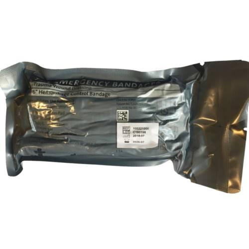 Emergency Bandage w/Pressure Bar, 6 inch, Green